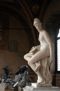 A statue in the courtyard of the Bargello in Florence
