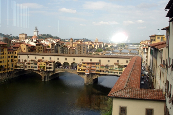 View of the Ponte Vecchio from the Uffizi
