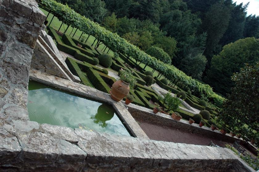 The formal gardens at Badia a Coltibuono