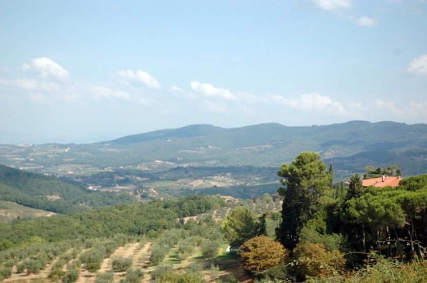 Chianti landscape taken from the car