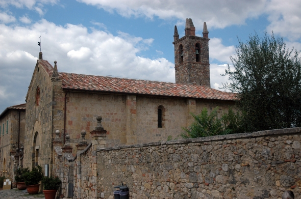 The church in Monteriggioni.