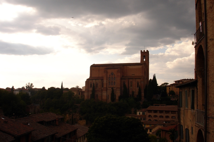 View of San Domenico church from a distance.
