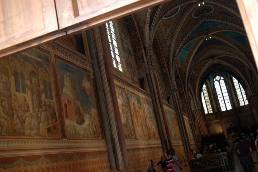 Frescoes inside the Basilica di San Francesco