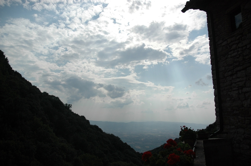 Sunrays—a view from St. Francis hermitage