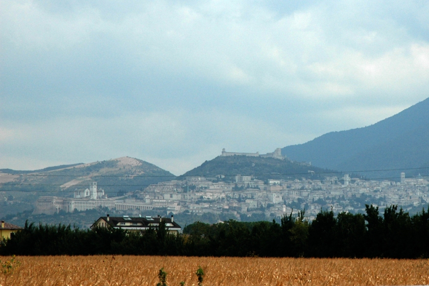 Our first view of Assisi