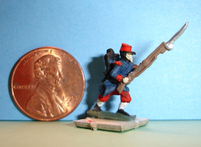 Tiny soldier used in war-gaming