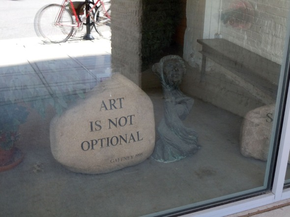 Art is not optional