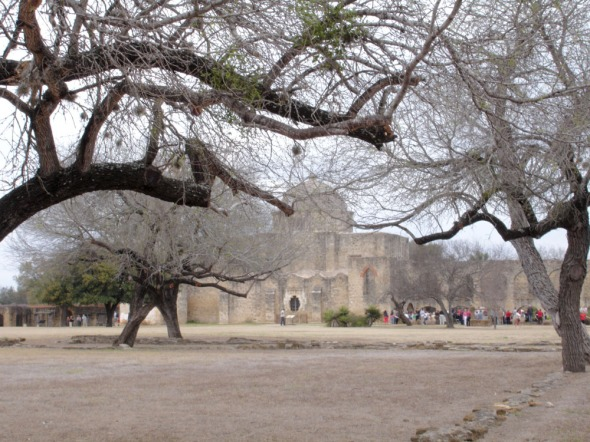 Mission San Jose y San Miguel de Aguayo fresco