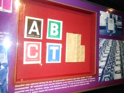 Rationing display at the WWII Museum