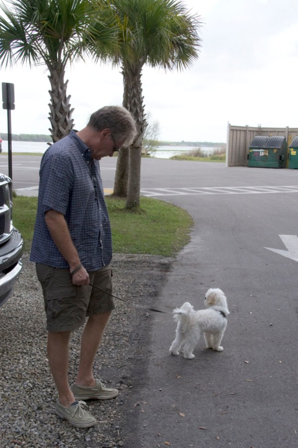 Arthur takes in the sights upon our arrival at Myakka Park.